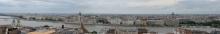 Budapest: Blick von Buda Richtung Donau und Pest