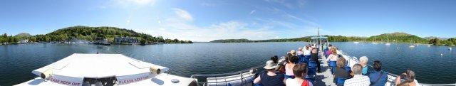 Fahrt von Ambleside, Lake District, auf dem Windermere Lake