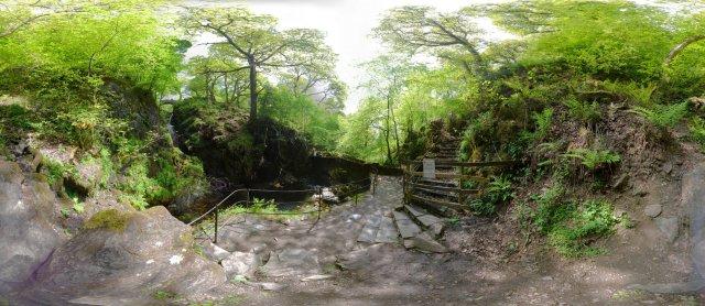 Aira Force: Unterhalb des Wasserfalls