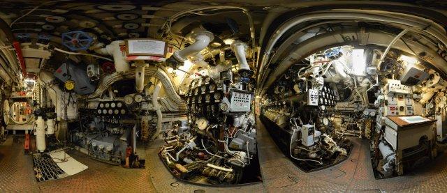 U-Boot H.M.S. Otus, Sassnitz, Maschinenraum