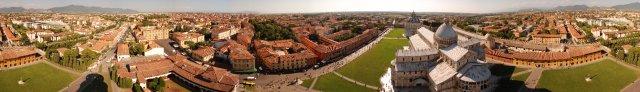 Schiefer Turm von Pisa Panorama