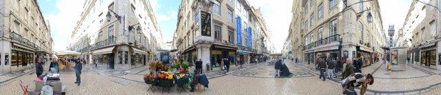 Lissabon: Fußgängerzone in der Baixa