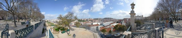Lissabon: Aussichtspunkt Sao Pedro e Alcantara