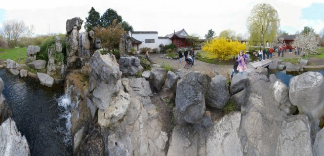 Chinesischer Garten - Wasserfall
