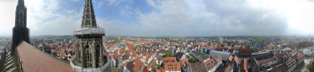 Rundblick Ulm vom Südlichen Chorturm