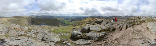 Lake-District: Rundblick vom Harrison Stickle