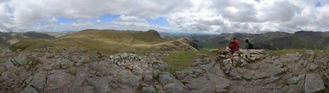Lake-District: Rundblick vom Pike of Stickle