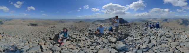 Lake-District: Rundblick vom Scafell Pike