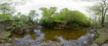 Kaskade oberhalb des Wasserfalls