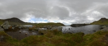 Lake-District: Der Stickle Tarn zu Füßen des Harrison Stickle