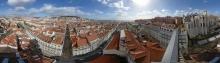 Lissabon: Rundblick von der Aussichtsplattform auf dem Elevador de Sta. Justa