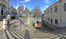 Lissabon: Straßenbahn-Lift