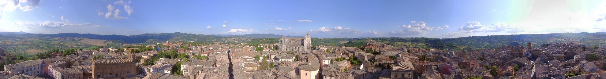 Orvieto -Rundblick vom Torre del Moro