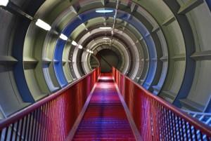 Eine Treppe im Atomium. Foto: Karen Seel