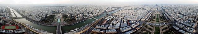 Panorama von Paris rund um den Eiffelturm. Foto: Christian Seel