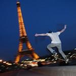 Skaten unter dem Eiffelturm