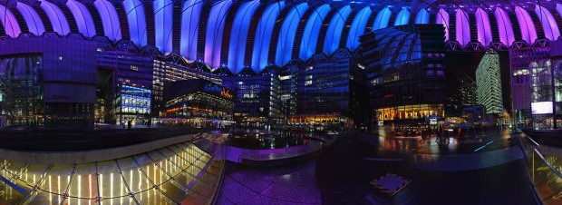 Sony Center Forum am Abend. Foto: Christian Seel