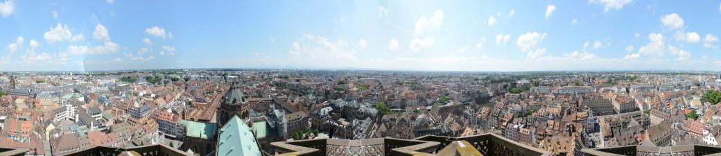 Strassburg: Panorama vom Münsterturm